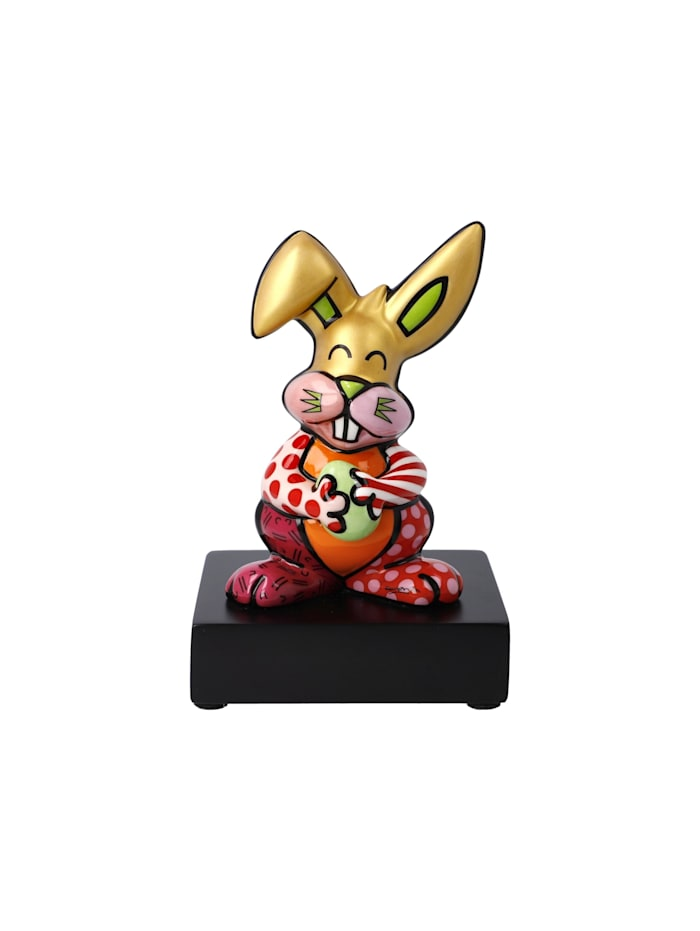 "Goebel Goebel Figur Romero Britto - ""Orange Rabbit"", Bunt"
