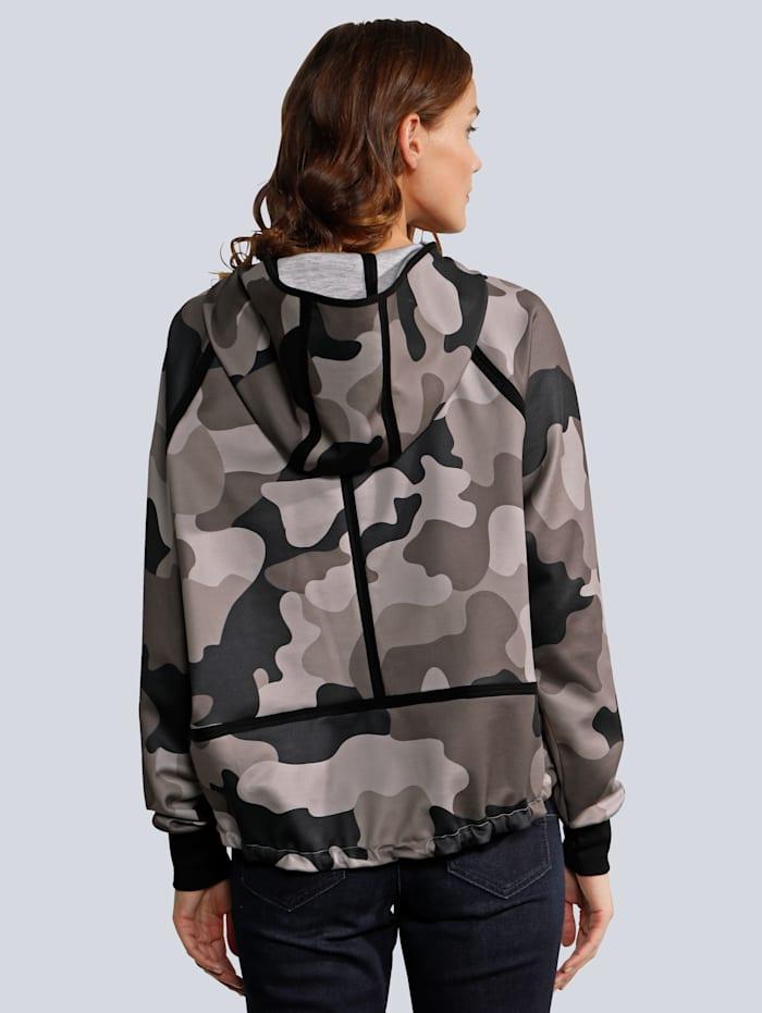 Sweathshirt im Camouflage Druck