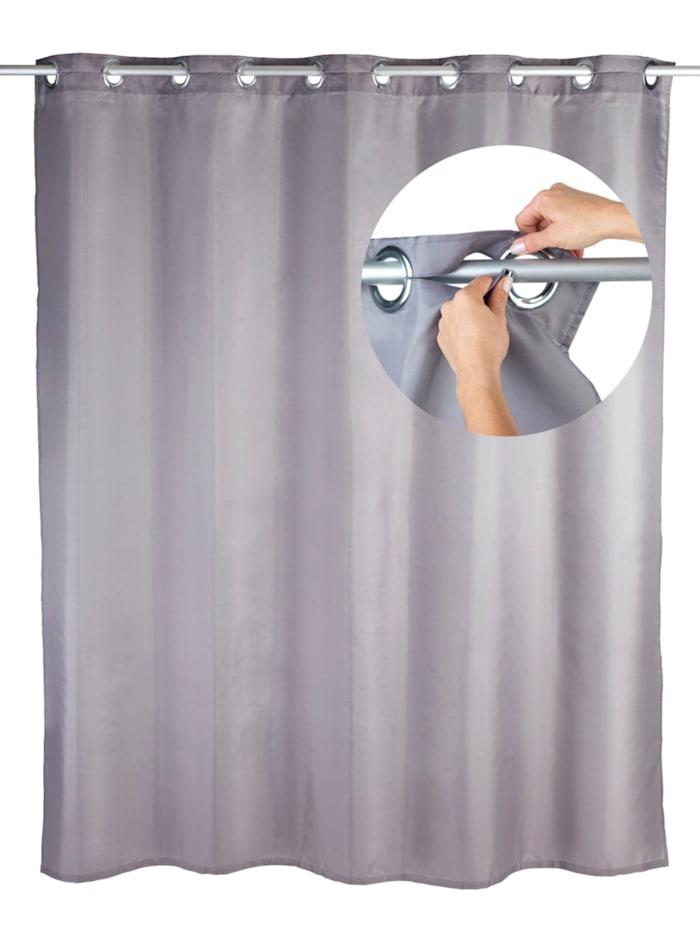 Wenko Duschvorhang Comfort Flex Grau, Textil (Polyester), 180 x 200 cm, waschbar, Grau