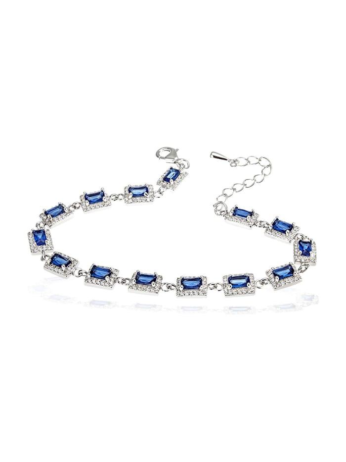 Goldmaid Damenarmband 925 Silber mit blauen Zirkonia, silberfarben