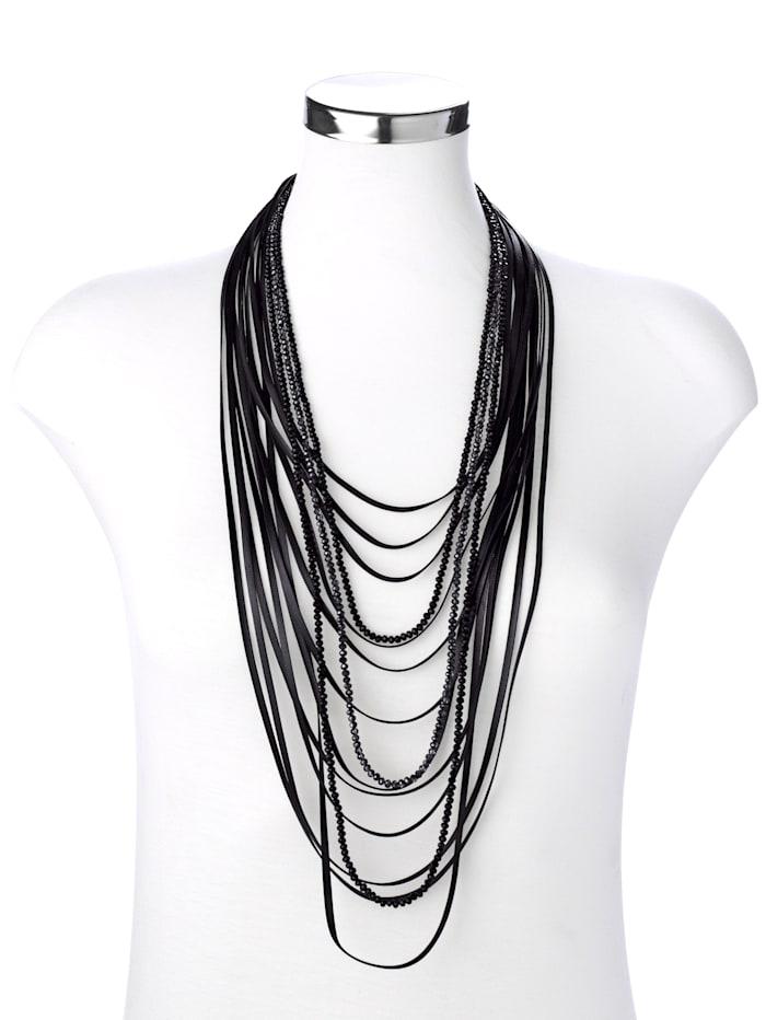 Halskette mehrreihig, Schwarz