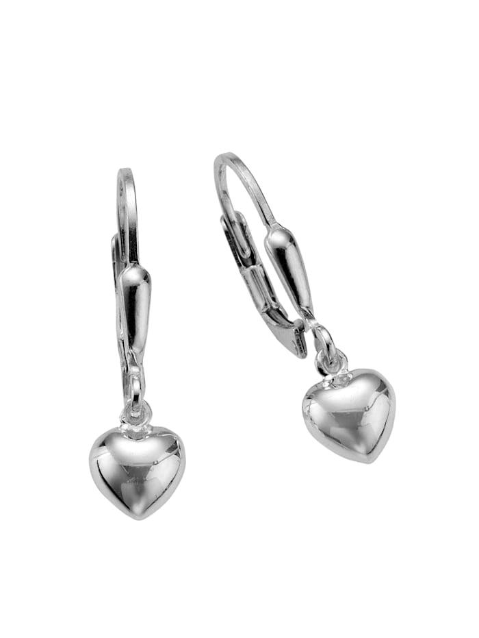 ZEEme Ohrhänger 925/- Sterling Silber 2,5cm Glänzend 925/- Sterling Silber, weiß