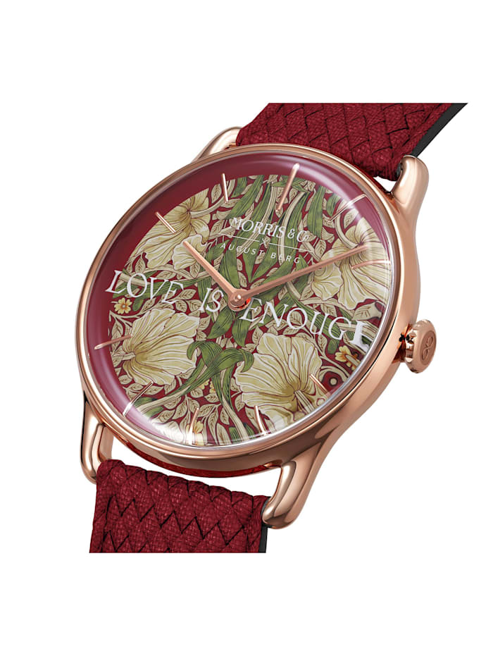 Uhr MORRIS & CO Rose Gold Red Perlon 38mm