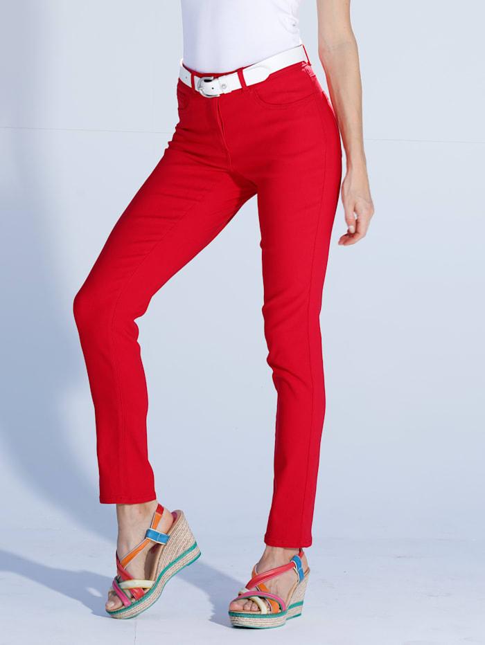 AMY VERMONT Jeans in elastischer Qualität, Rot