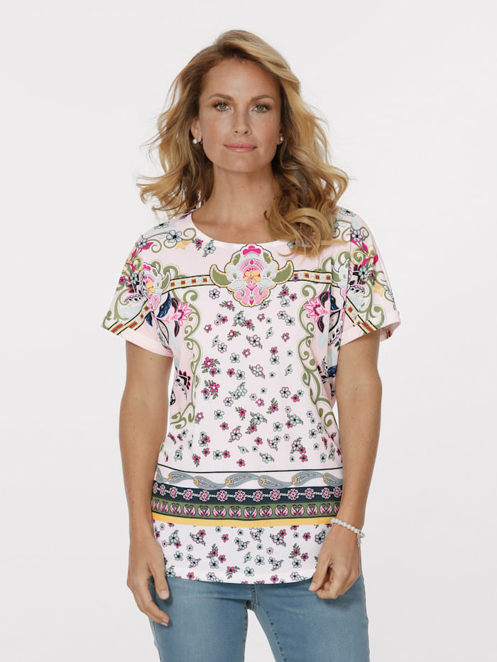 Shirt mit effektvollem Bordüren-Druckdessin
