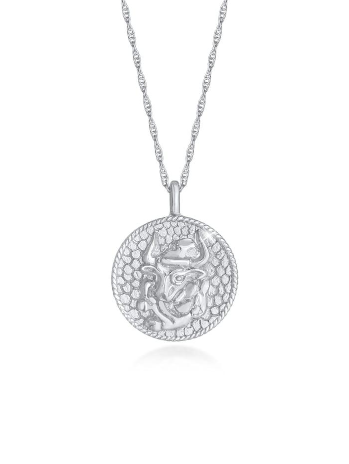 Elli Halskette Sternzeichen Stier Astro Münze 925 Silber, Silber