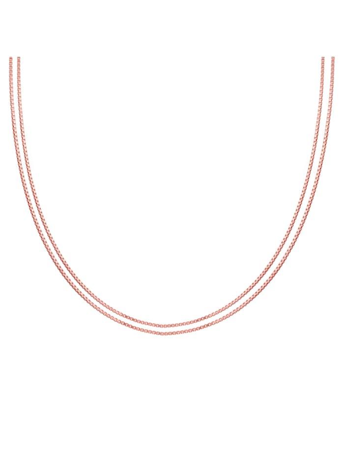 CAI Collier 925/- Sterling Silber ohne Stein 45cm Glänzend, rot