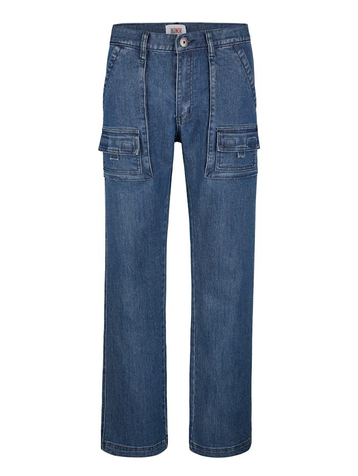 Roger Kent Worker-Jeans mit vielen praktischen Taschen, Blue stone