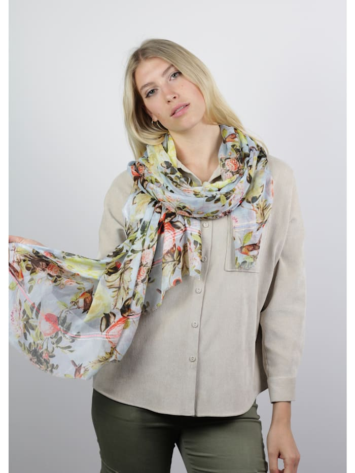 Ultrasofter XL-Schal mit Rosen-Print