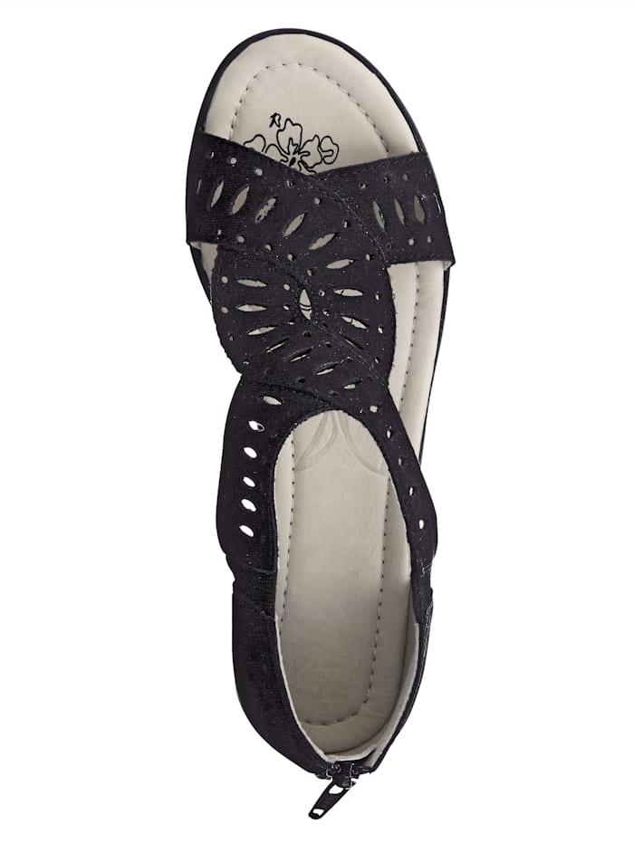 Sandaler med låg klack