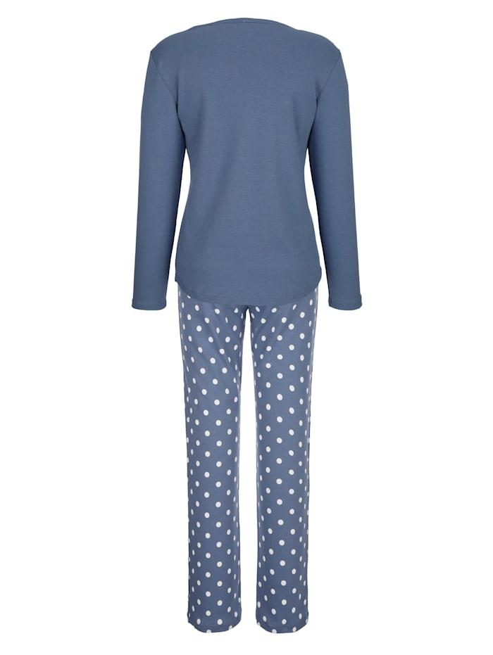 Pyjama met romantisch kant op de broeksband