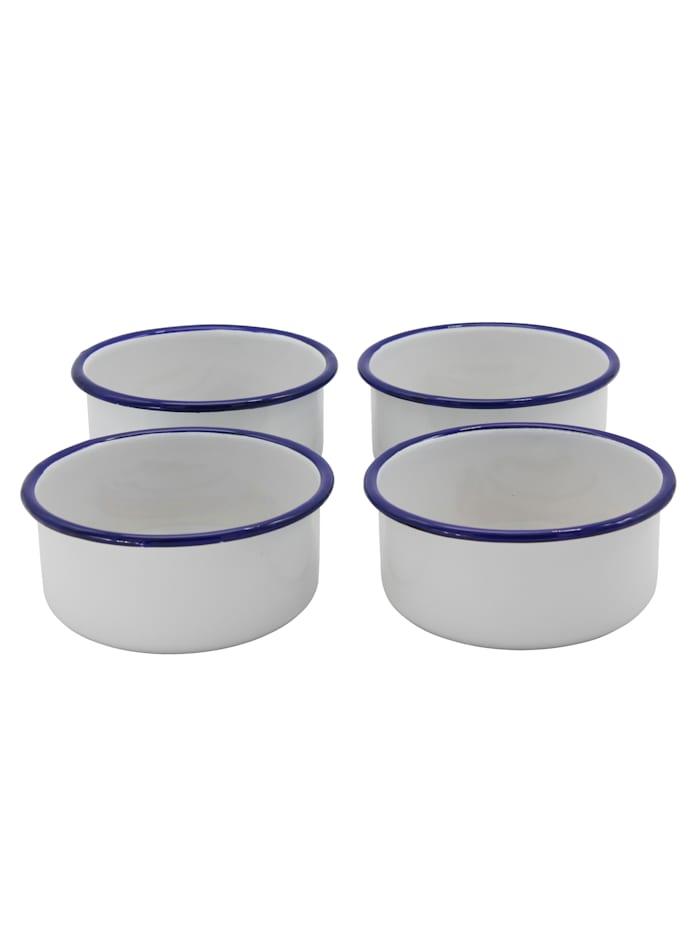 Krüger Set van 4 serveerschaaltjes, Wit