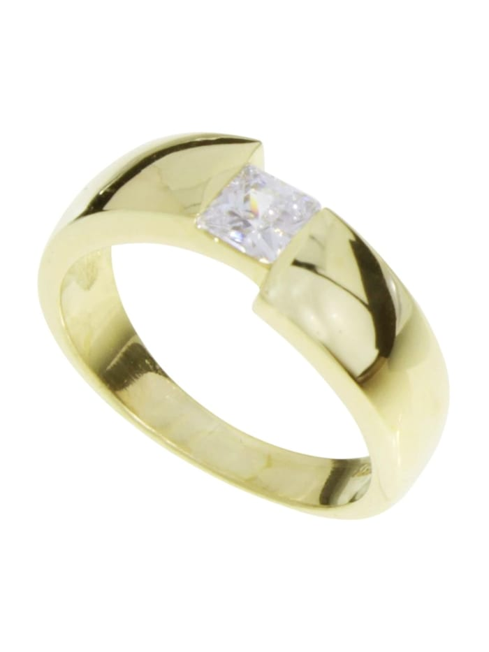 OSTSEE-SCHMUCK Ring - Unni - Gold 333/000 - Zirkonia, gold