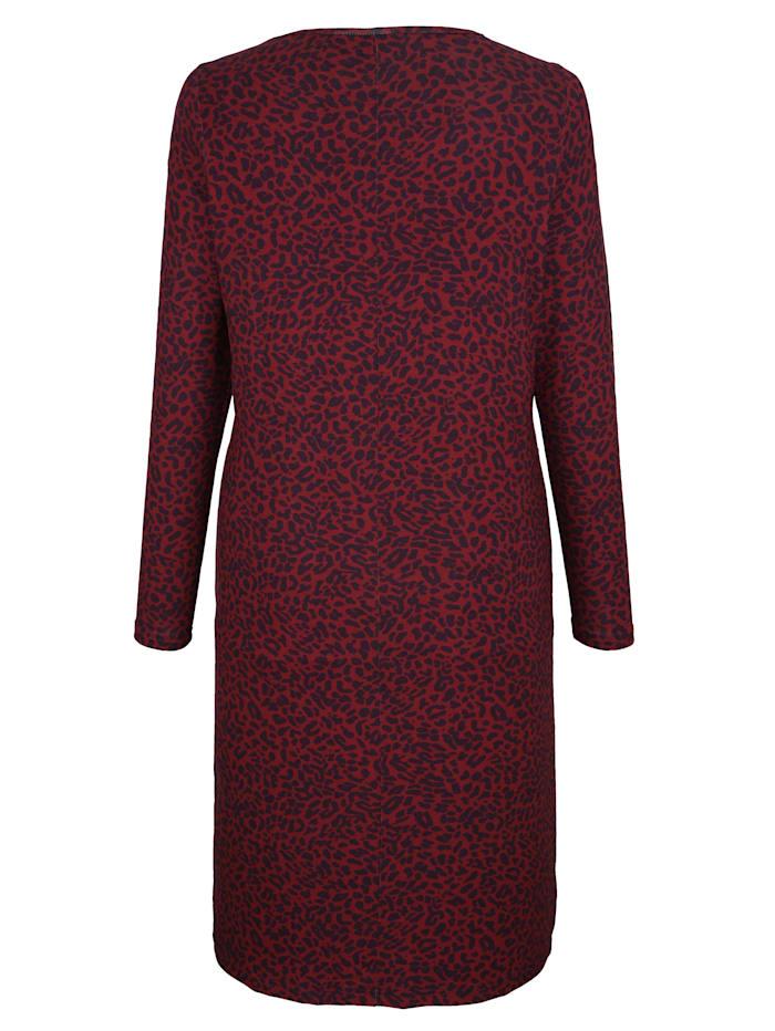 Jerseykleid mit Animaldruck