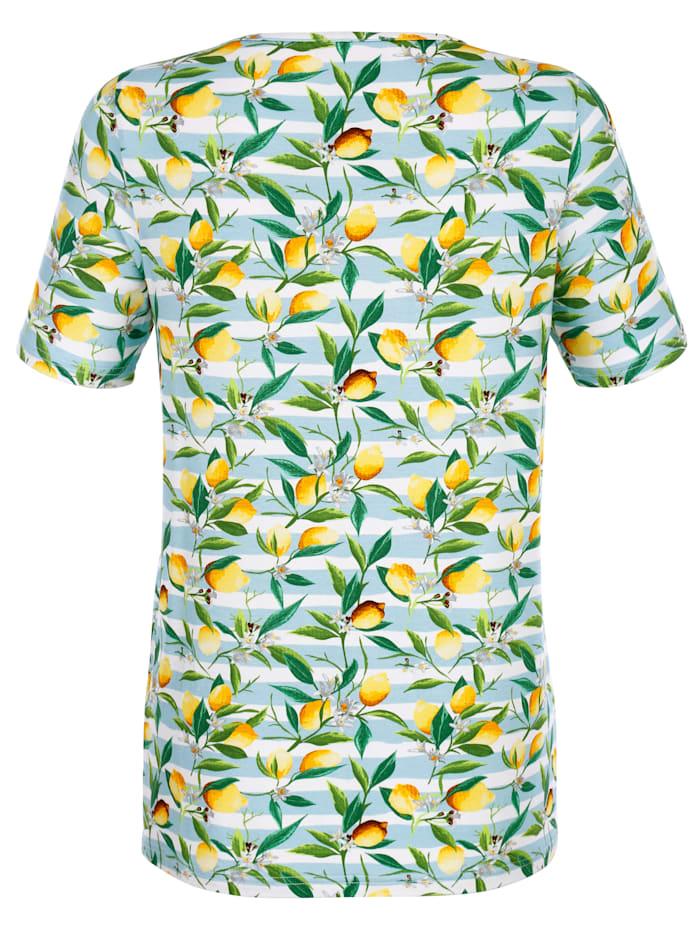 Shirt met citroenmotief