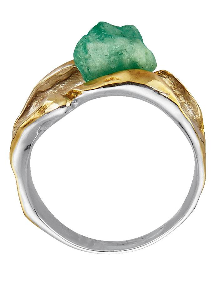 Damenring mit Roh-Smaragd
