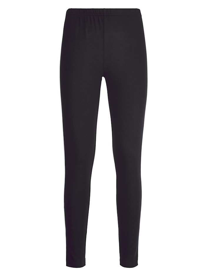 Leggings with chic contrasting piping