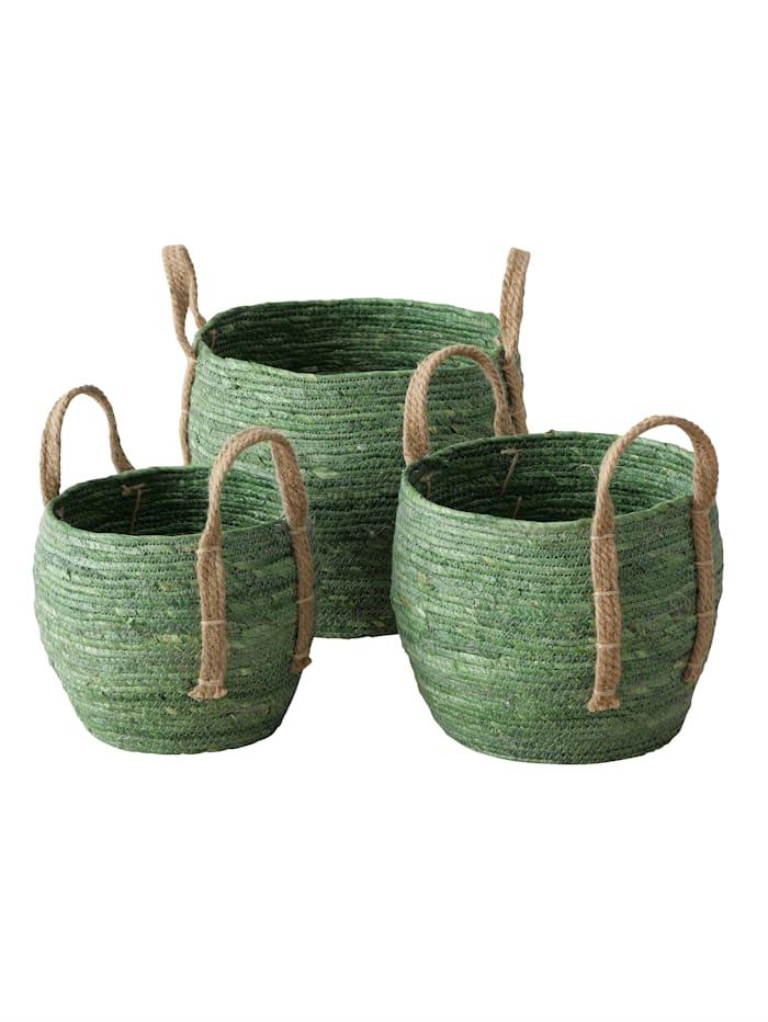 Boltze Korb-Set, 3-tlg., grün