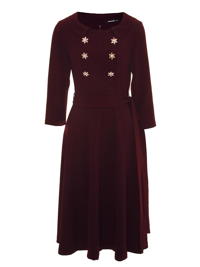 Madam-T A-Linien-Kleid Vesta, pflaume