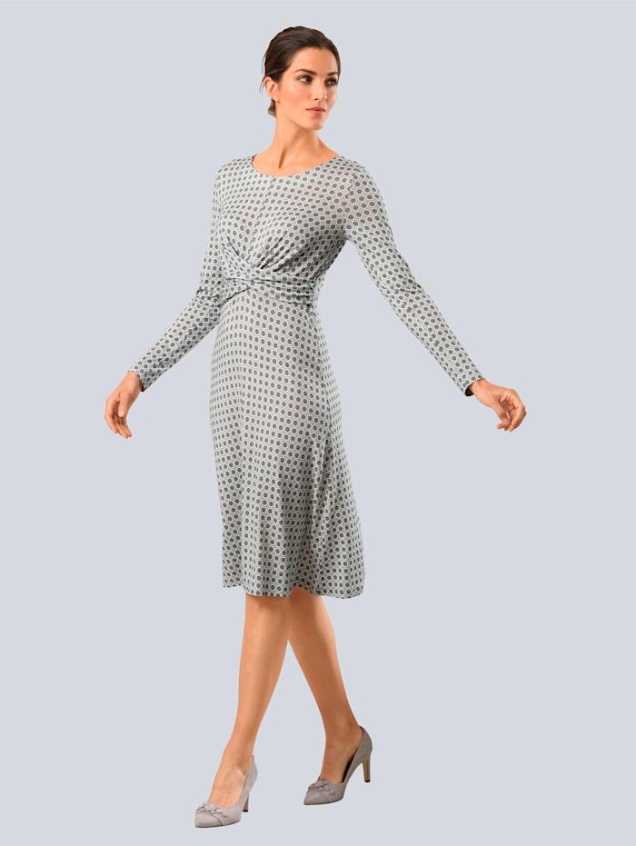Alba Moda Kleid in femininer Wickeloptik, Taupe/Grau