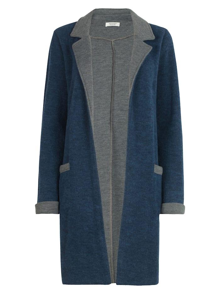 Jersey coatigan in a longline style