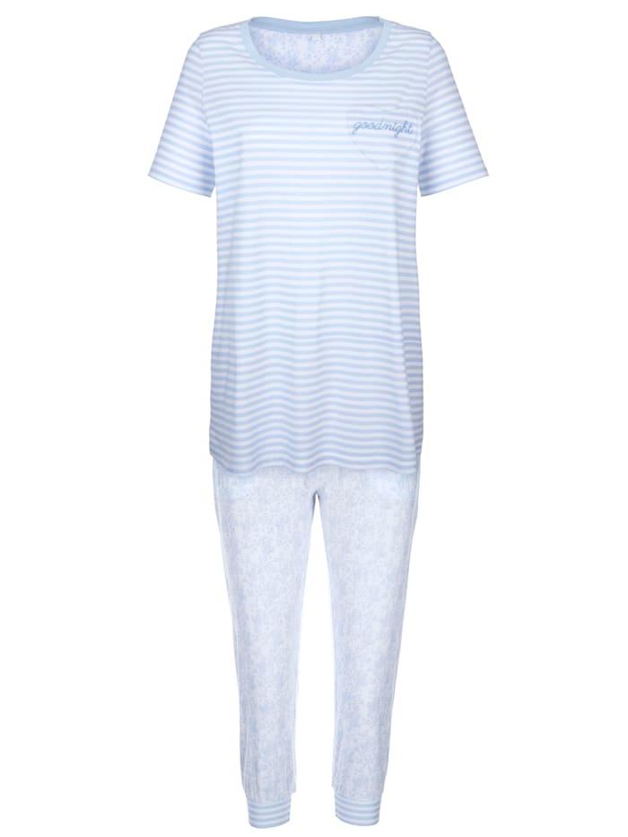 Schlafanzug mit bedruckter Rückseite