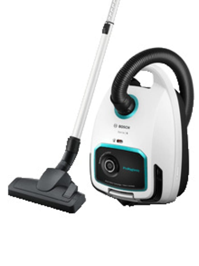 Bosch Power Beutelstaubsauger Serie 6 'ProHygienic BGL6LHYG ' - besonders ideal für Allergiker, weiß/schwarz
