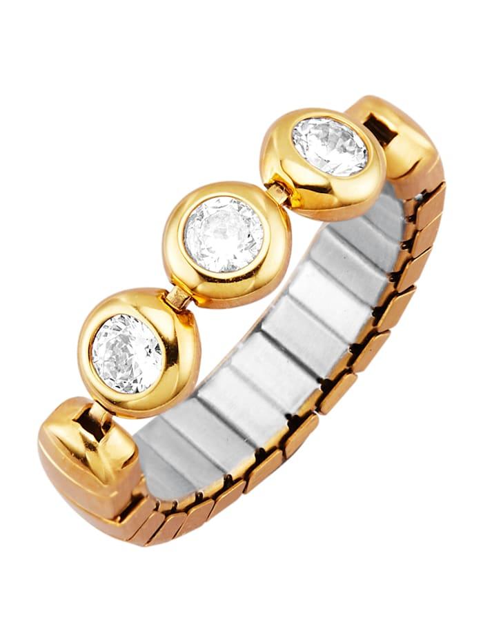 Magnetic Balance Dámsky prsteň so syntetickými zirkónmi, Strieborná