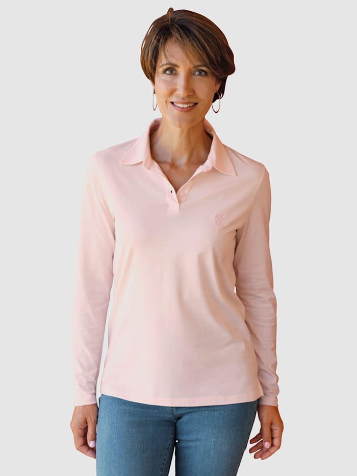 Paola T-shirt à broderie ton sur ton, Rose clair