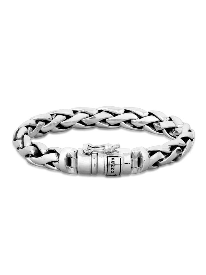 Kuzzoi Armband Herren Basic Panzerarmband Cool Robust 925 Silber, Silber