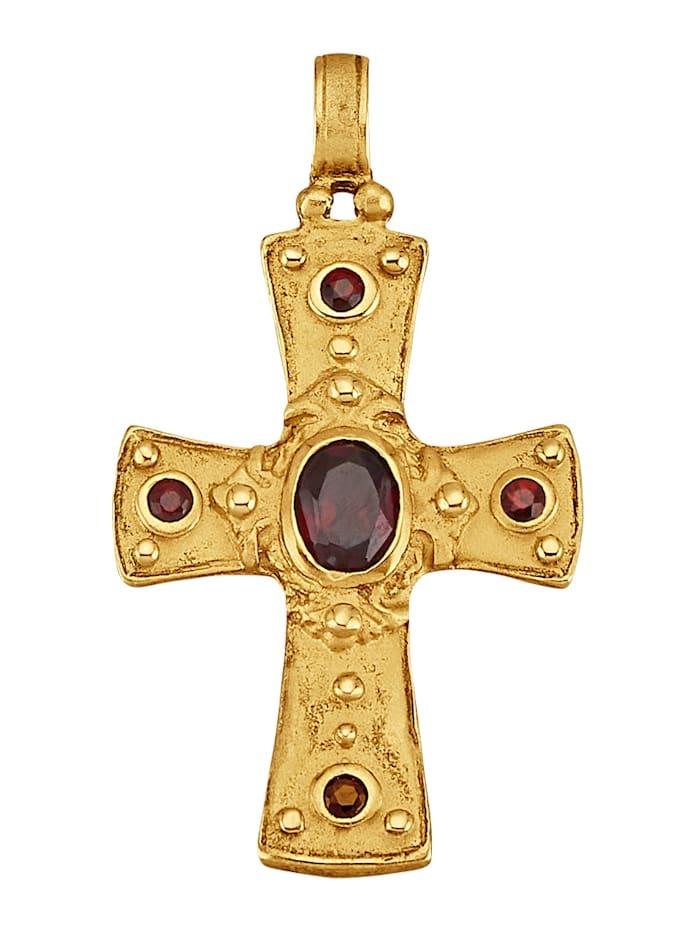 Byzanz-Kreuz-Anhänger in Silber 925, vergoldet, Gelbgoldfarben