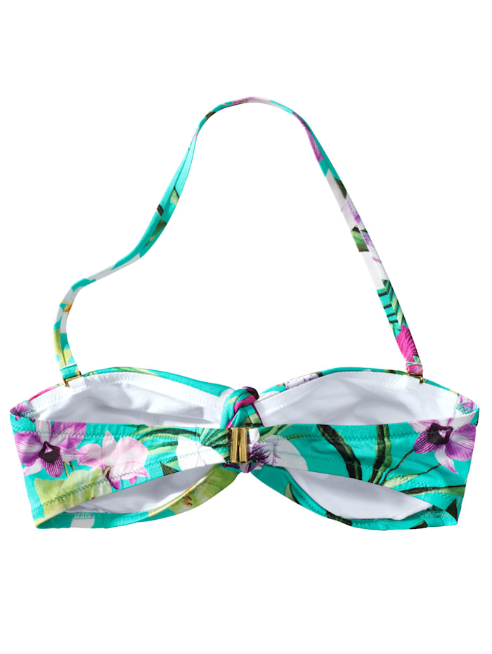 Bikini-Top Mit floralem Tropenprint