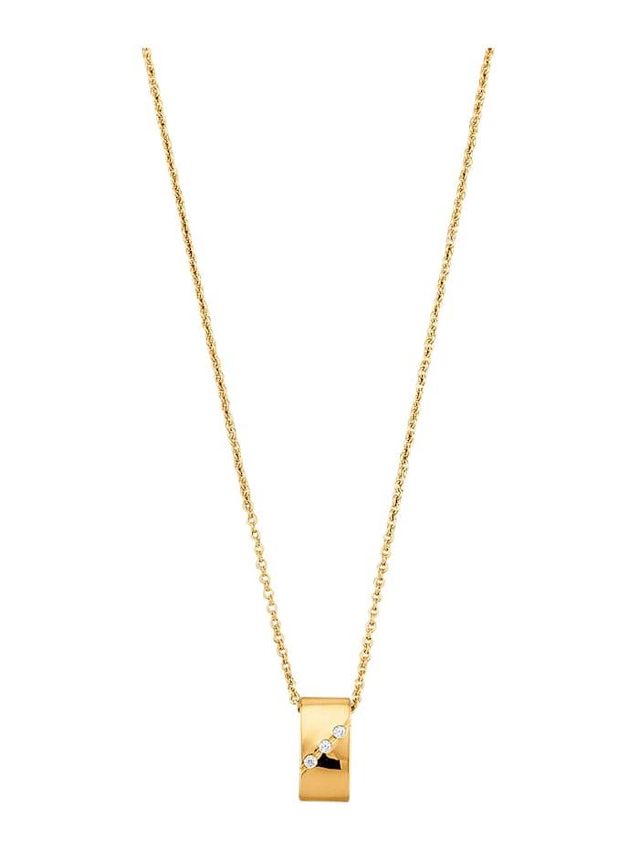 Golden Style Hanger met ketting verguld, Geelgoudkleur