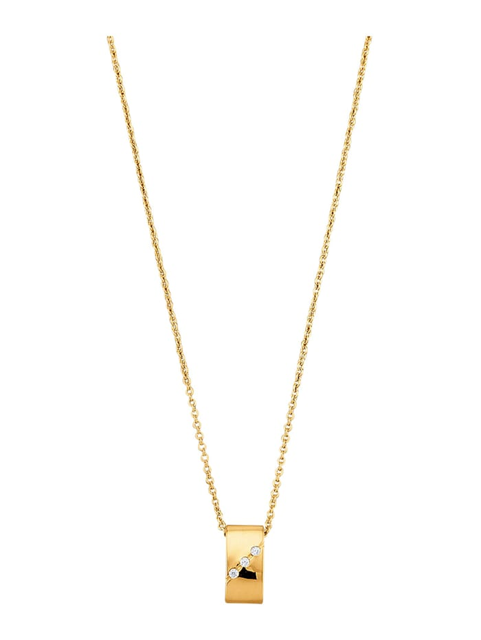 Golden Style Pendentif + chaîne . doré, Coloris or jaune
