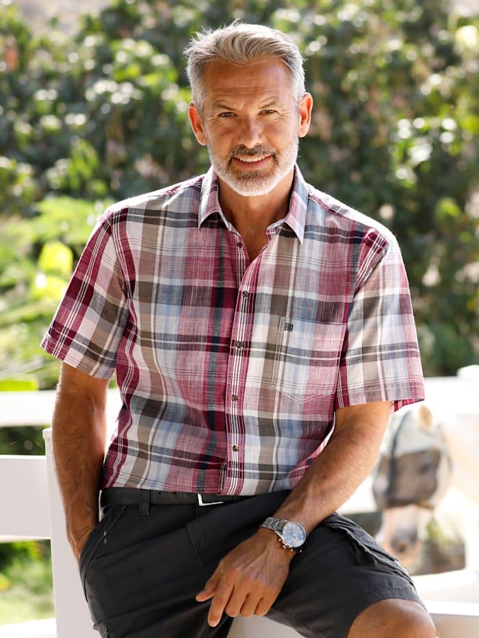 BABISTA Overhemd van zomers materiaal, Bordeaux/Olijf/Lichtblauw