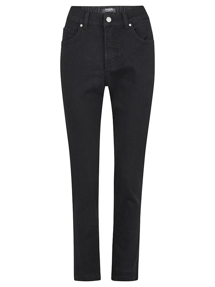 Angels Jeans 'Tama' mit teilelastischem Bund, black