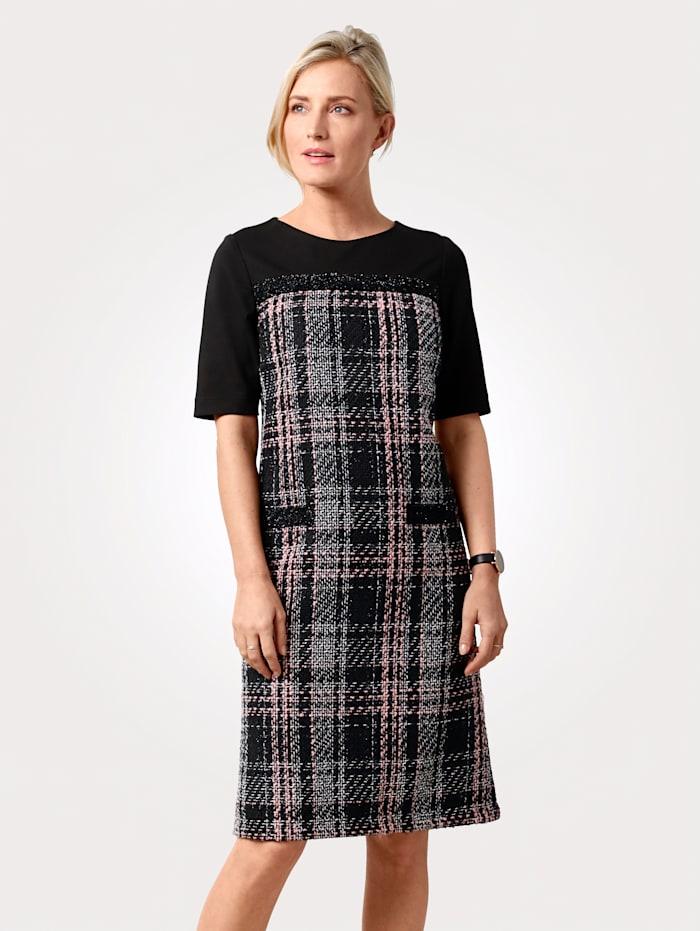 Kleid in breitem Karo-Dessin