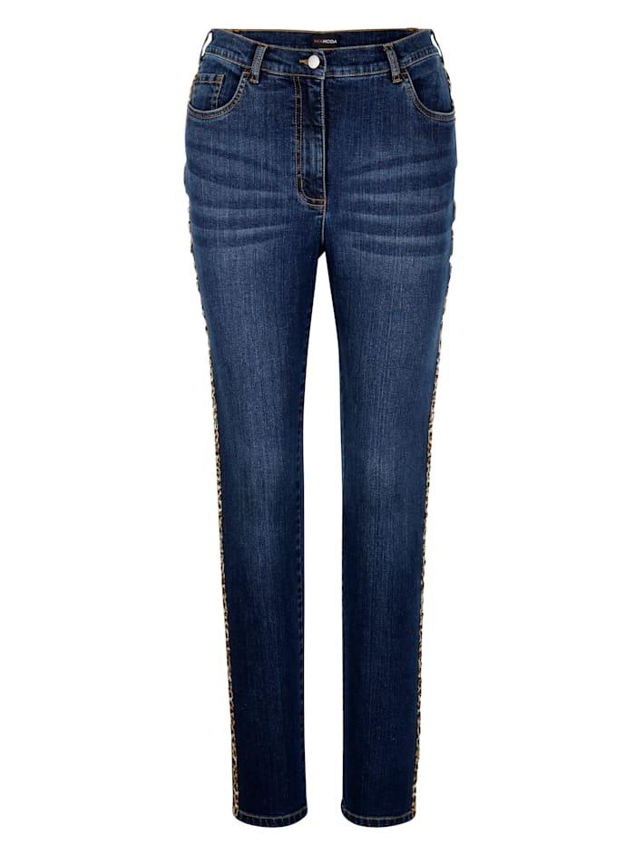 MIAMODA Jeans mit modischem Piping, Dark blue