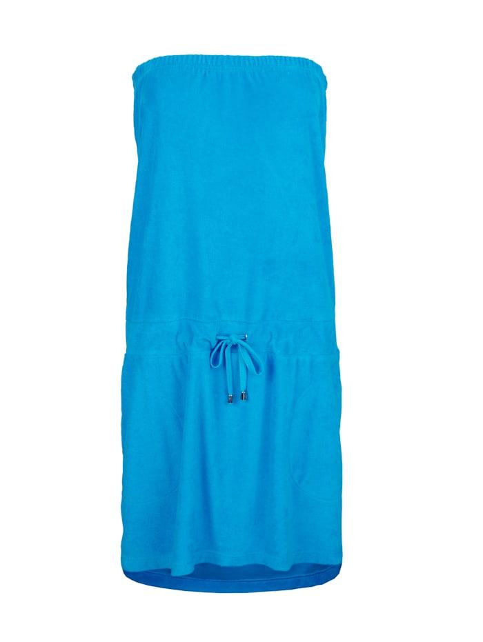 Maritim Strandjurk van lichte badstof, Turquoise
