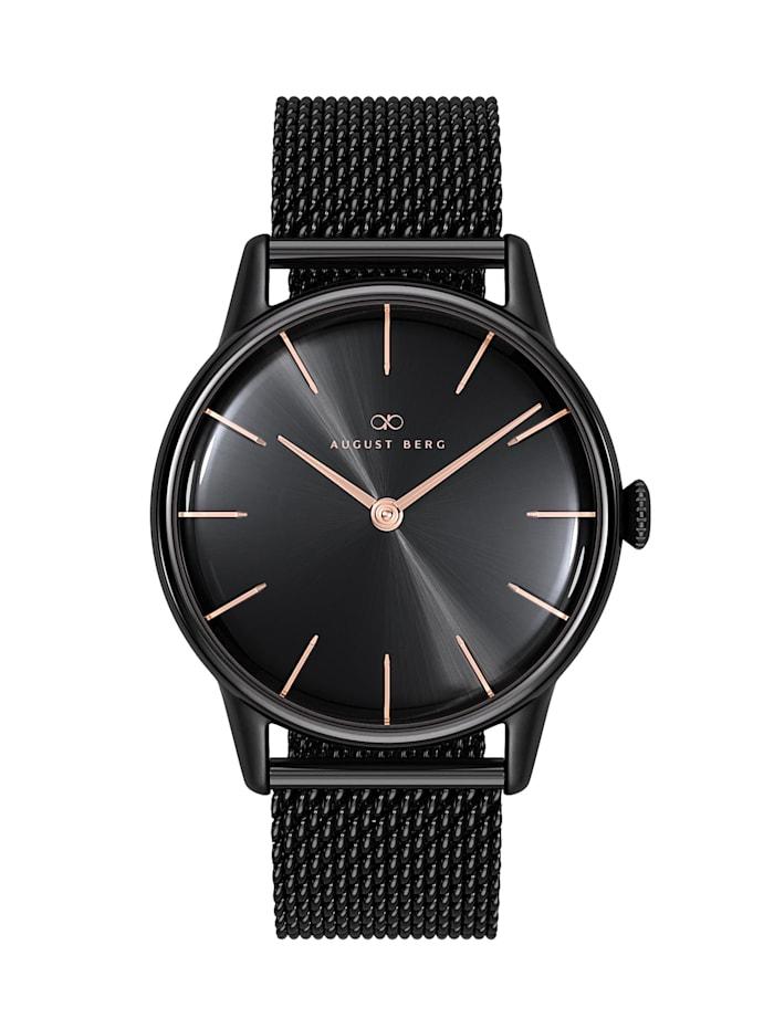 August Berg Uhr Serenity Noir Black Black Mesh 32mm, sunray black
