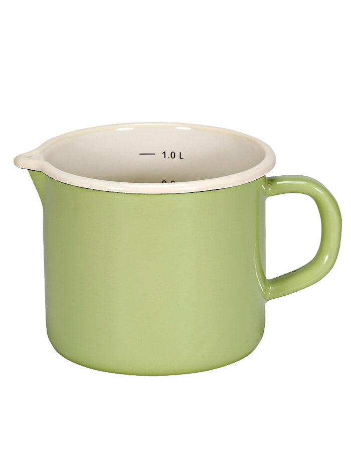 Krüger Milchtopf Sylt/Juist, grün/creme - Juist