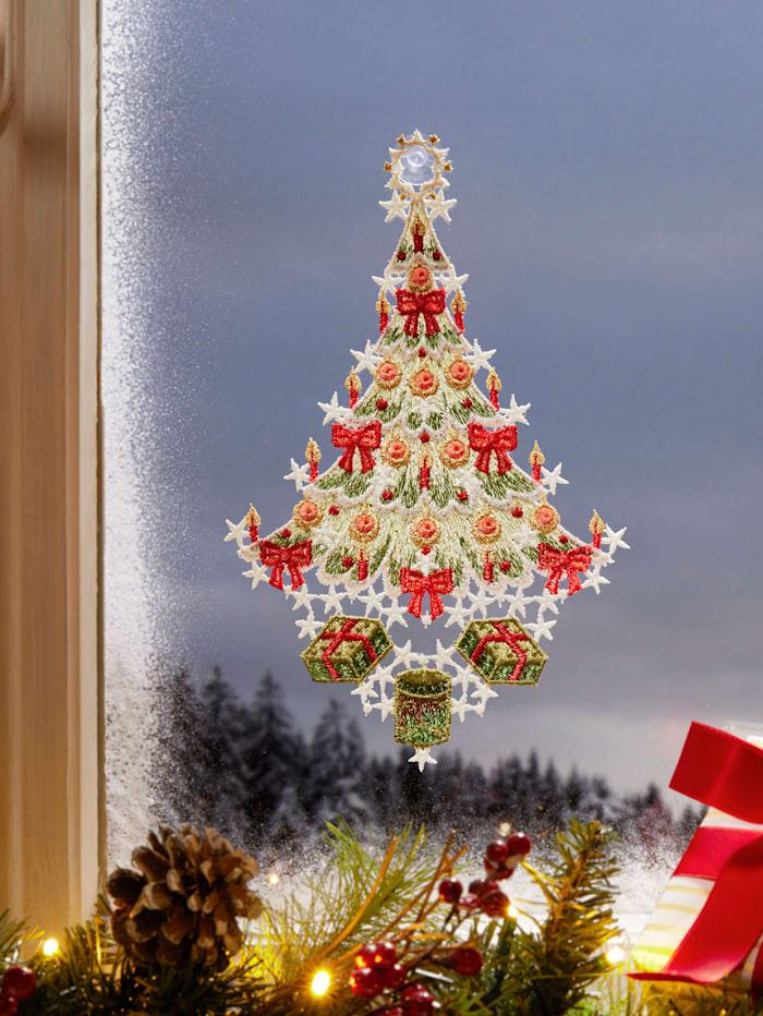 Stickereien & Textilien Raamhanger Kerstboom, multicolor