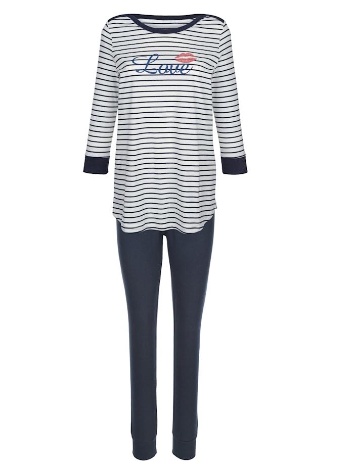 Schlafanzug im zeitlosem Streifen-Dessin