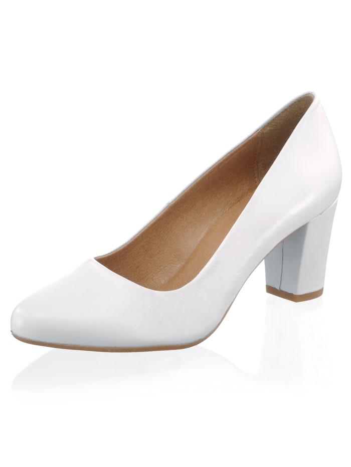 Alba Moda Pumps in klassischer Form, Weiß