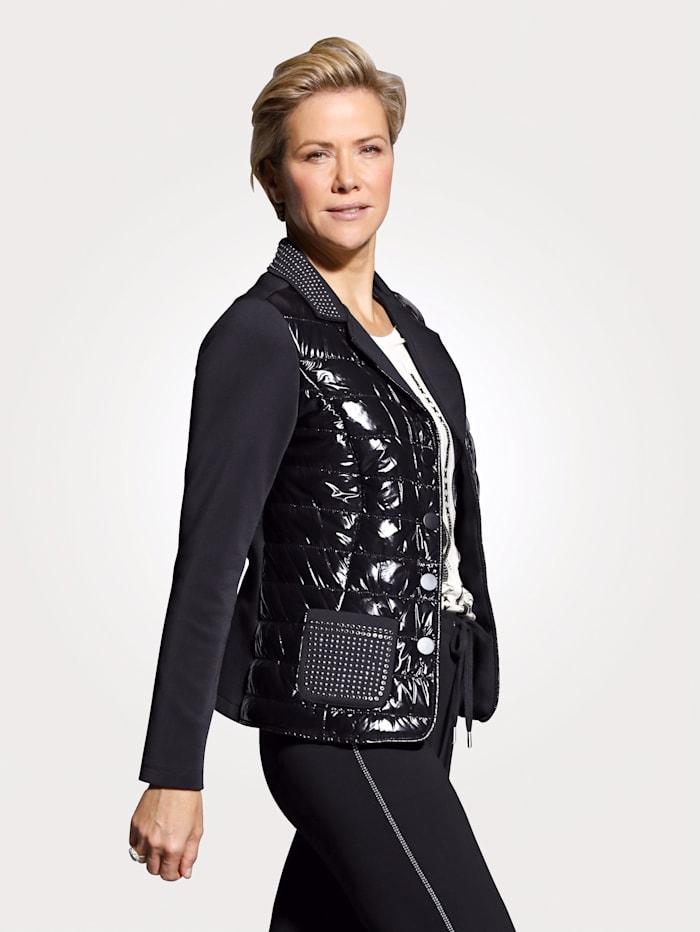 MONA Blazer in a fabric mix, Black