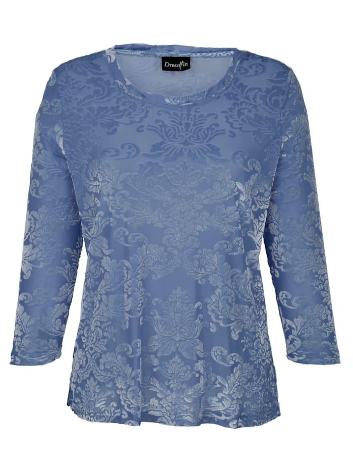Dress In Shirt in edler Ausbrenner-Optik, Hellblau