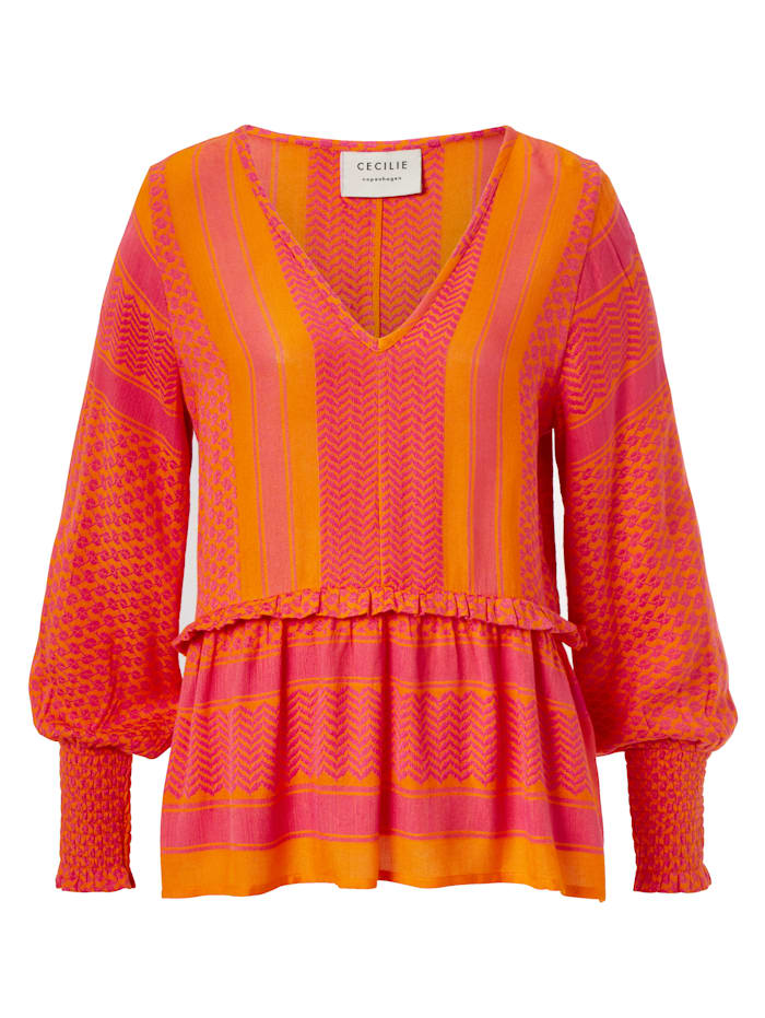 Cecilie Copenhagen Bluse, Orange