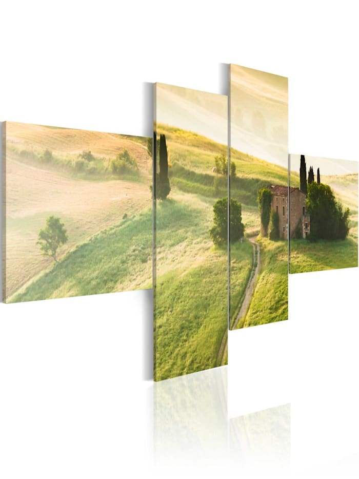 artgeist Wandbild Legere Toskana, Braun,Grün,Weiß