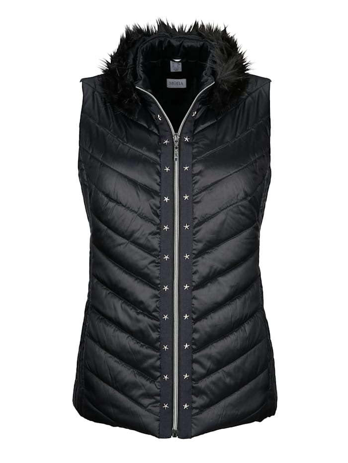 Gilet with a flattering quilted pattern