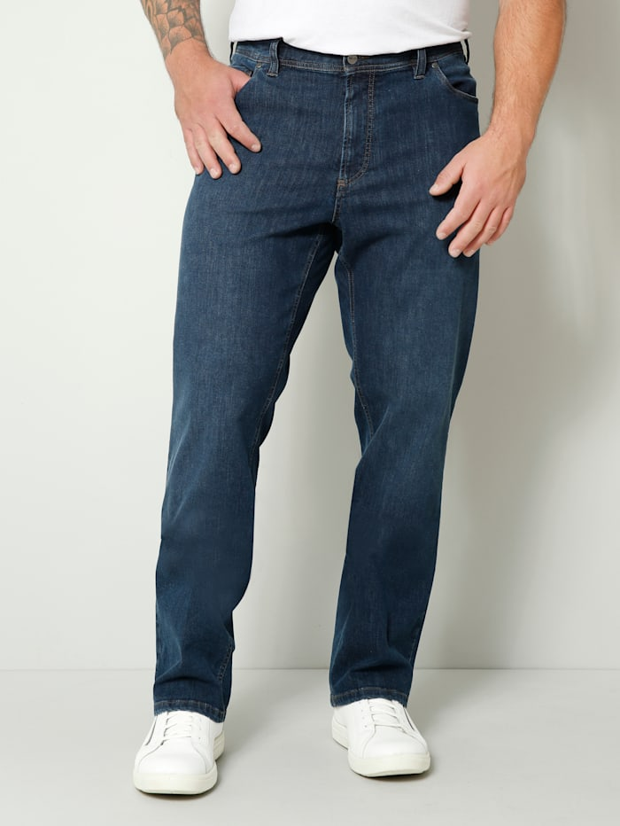 Men Plus Jeans Straight Fit, Blau